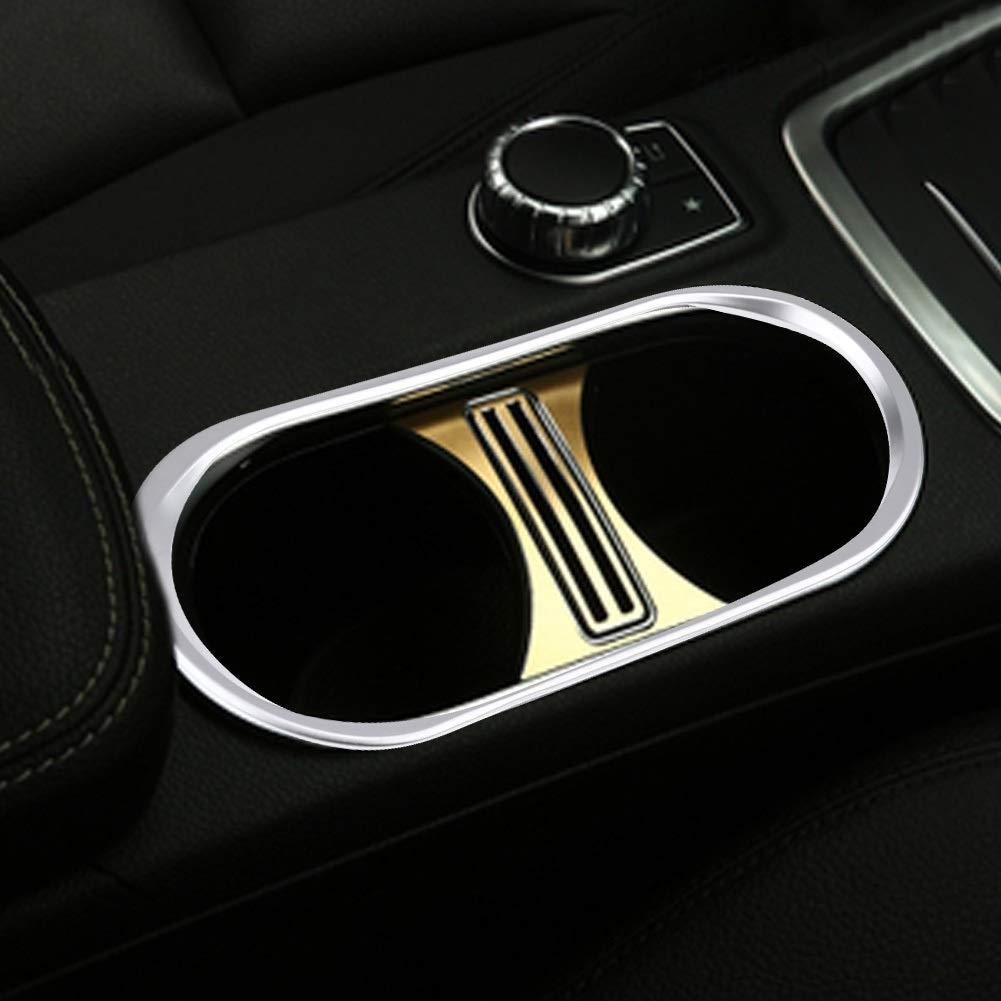 Dibiao Support de tasse deau de console de console centrale de voiture pour Mercedes A//CLA//GLA-classe 2013-2017 accessoires int/érieurs dautomobile Accessoires de porte-tasse de couverture de pa