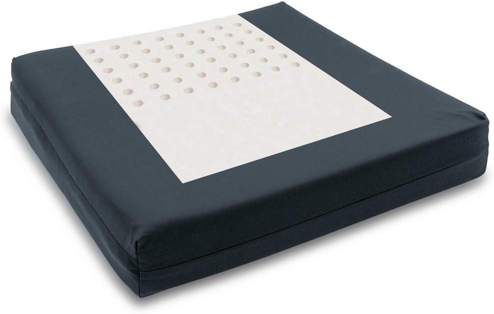 Adiggy Medical | Cojin Antiescaras Viscoelástico con perforaciones para correcto posicionamiento. Funda PU antideslizante | Medidas: 42x42x7 cm