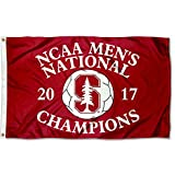 College Flags and Banners Co. Stanford Cardinal 2017 Men's Soccer Champions Flag