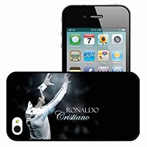 Personalized iPhone 4 4S Cell phone Case/Cover Skin Cristiano Ronaldo Sport 14093 Black