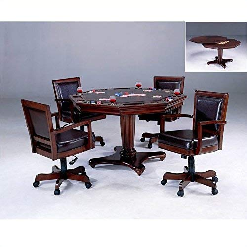 Hillsdale Furniture 5 Piece Ambassador Game Set, Medium Brown Cherry by Hillsdale Furniture