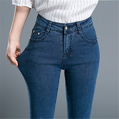 Insun Damen Jeans Bootcut Jeanshose Hüftjeans Quaste Blau jHFSORSF