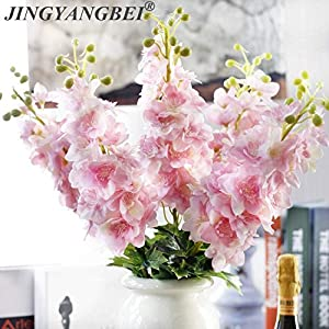 HOKUGA 80CM Simulation Flower Latex Delphinium Artificial Flowers Continental PU Flowers Wedding Home Decoration 11