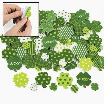 Fabulous Foam Self-Adhesive Shamrock Shapes - Art & Craft Supplies & Foam Shapes