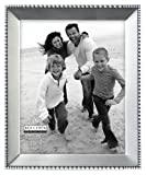 decorative picture frames 8x10 - Malden International Designs Marquee Bead Satin Nickel Picture Frame, 8x10, Nickel