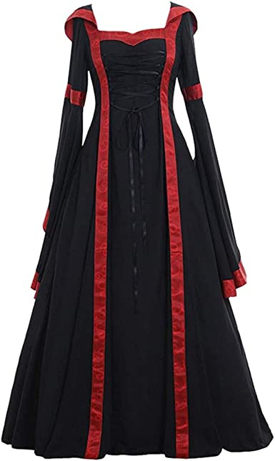 Medieval Renaissance Dress Women/'s Vintage Cosplay Gothic Costume Party Dress