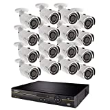 Q-See QC9616-16DX-2 | Surveillance System with 16 Channel HD Analog DVR with 2TB Hard Drive | Includes 16 4MP Security Cameras | Compatible with 4K TV | Weather Resistant | Night Vision