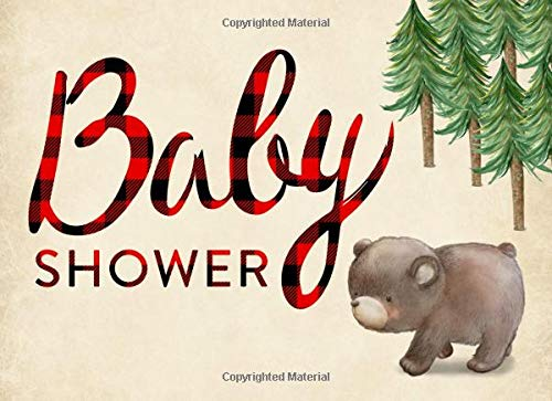 Pdf Parenting Baby Shower: Guest book, Ideal for a Lumberjack theme baby shower! Space for a picture, Write predictions & advise, with gift log. Bear