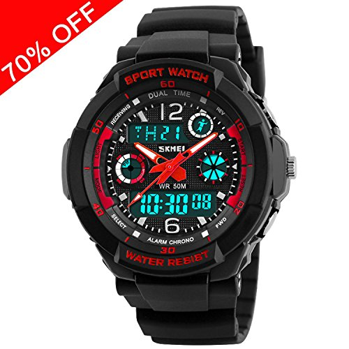 Kid Watch Multi Function Digital LED Sport 50M Waterproof Electronic Analog Quartz Watches for Boy Girl Children Gift
