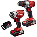 Set Trapano e Avvitatore + 2 batterie e caricabatterie Einhell TE-TK 18 Li Drill & Driver KIT