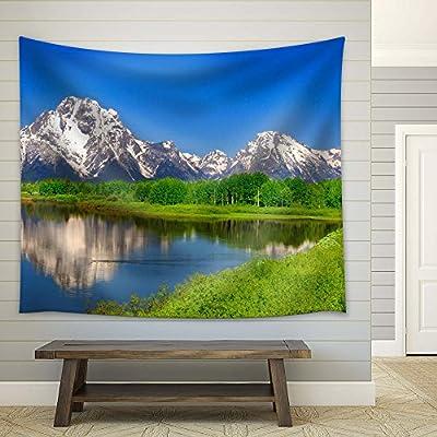 Grand Visual, Peaceful Lake and Snow Covered Mountain, Premium Creation