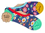 Natural Life No Show Socks - Set of Two Pairs (030-FLOWER)
