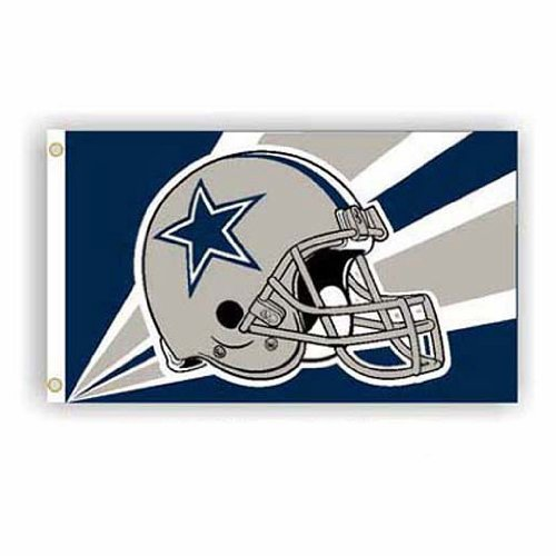 Dallas Cowboys NFL Helmet Design 3'x5' Banner Flag