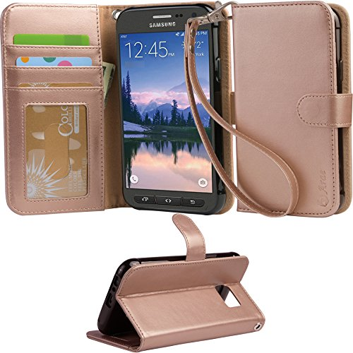 official photos 3dd43 1267b ARAE Samsung Galaxy s7 Active Wallet Case with Kickstand and - Import It All