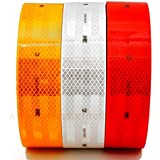 Aero Intensity Reflective Tape (White, Red and Yellow, 2-inch), Pack of 3