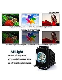 ahlights 915B403001 lámpara de repuesto con carcasa para Mitsubishi TV WD 60735 WD 65638 WD 73835