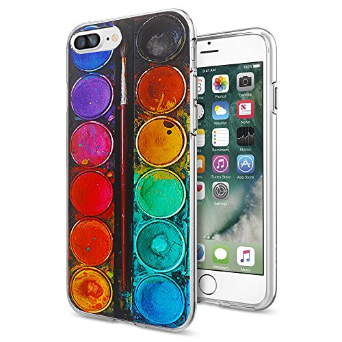 iPhone 7 Plus Case, Litech™ [FlexFit] Premium Scratch-Resistant, Artistic Series (Color Palette)