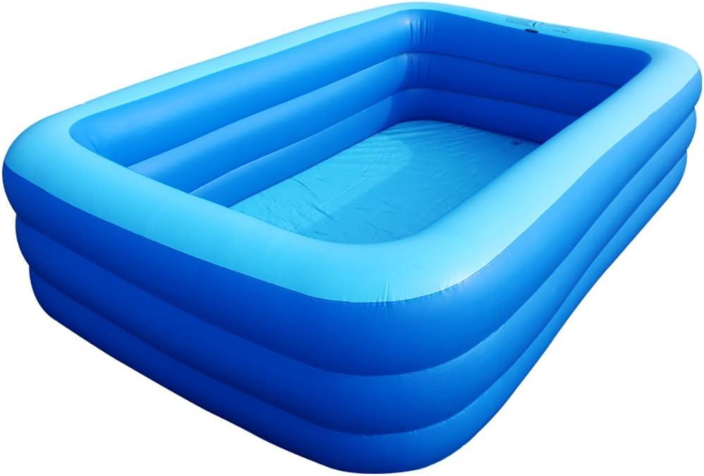 WENJUN Piscina Inflable Bañera Cuadrada Bañera para Adultos Engrosamiento Piscina Doméstica Climatizada Bañera para Niños Piscina para Adultos (Color : B, Tamaño : 260 * 65 cm)