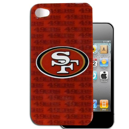 Faceplate Snap Case (San Francisco 49ers Licensed NFL for Apple iPhone 4 4S Faceplate Hard Back Protector Case Snap On Cover fits Sprint, Verizon, AT&T Wireless)