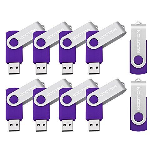 KOOTION 10PCS 1GB USB 2.0 Flash Drives Pen Drive Memory Stick Thumb Drive USB Drives, Purple