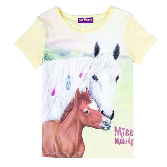 blau Miss Melody M/ädchen T-Shirt