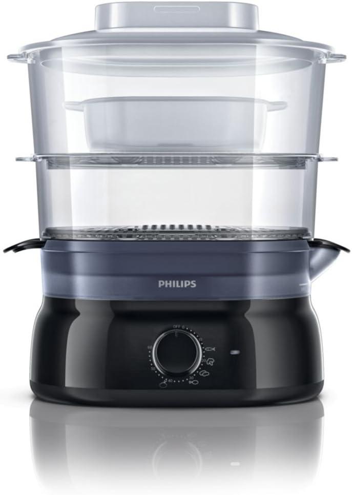 1 Schwarz Philips HD9126 Dampfgarer