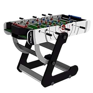 Riley VR-904de los hombres plegable mesa de fútbol, blanco, 4ft