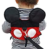 Cute Baby Anti-lost Harness Safety Leash Mini Strap for Boys and Girls (Red)