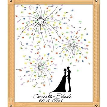 Neue Kreative Diy Feuerwerk Hochzeit Fingerabdruck Baum Signature