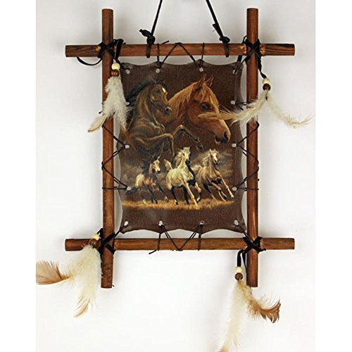 OBI Framed Indian Picture Native American Art 9 X 11 inch (Including Frame) Reproduction … (Horse) by OBI
