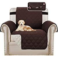 Waterproof Sofa 1 Seater Cover Chair Protectors Cover for Living Room Non Slip Furniture Cover for Dogs/Pets, Checked…