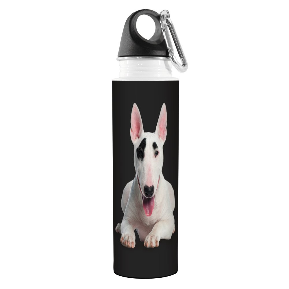 White Tree Free 18-Ounce Tree-Free Greetings VB49024 I Heart Bull Terriers Artful Traveler Stainless Water Bottle