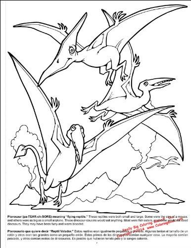 Dinosaurs Really Big Coloring Book English and Spanish (17.5 x ...