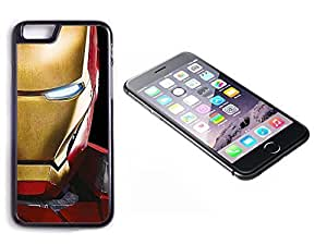 iPhone 6 Black Plastic Hard Case with High Gloss Printed Insert Ironman