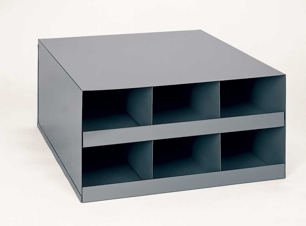 Durham 921-95 Gray Cold Rolled Steel Welding Rod Cabinet, 16-1/8'' Width x 8-1/8'' Height x 18-1/2'' Depth, 6 Compartments