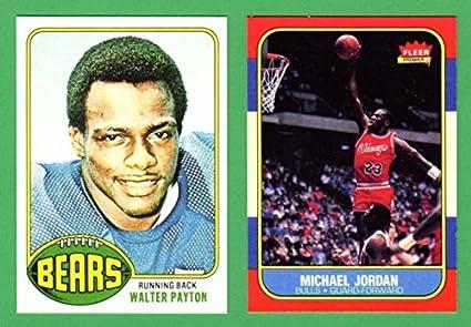 Walter Payton Michael Jordan 2 Card Rookie Reprint Lot