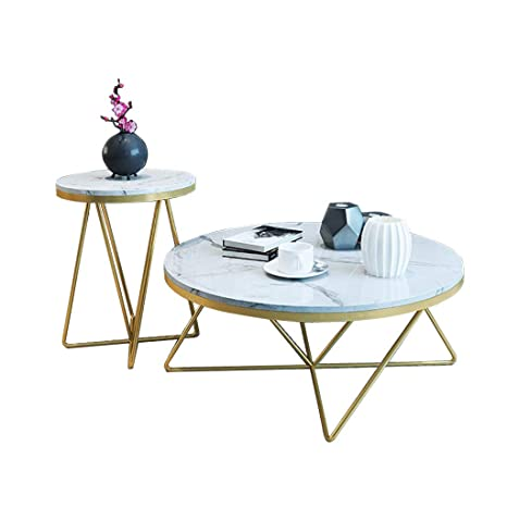 Amazing Amazon Com Round Faux Marble Coffee Table Side End Table Caraccident5 Cool Chair Designs And Ideas Caraccident5Info