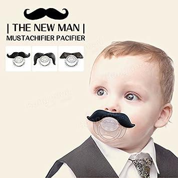 Amazon.com: Saver divertido bigote barba Chupete Dummy ...
