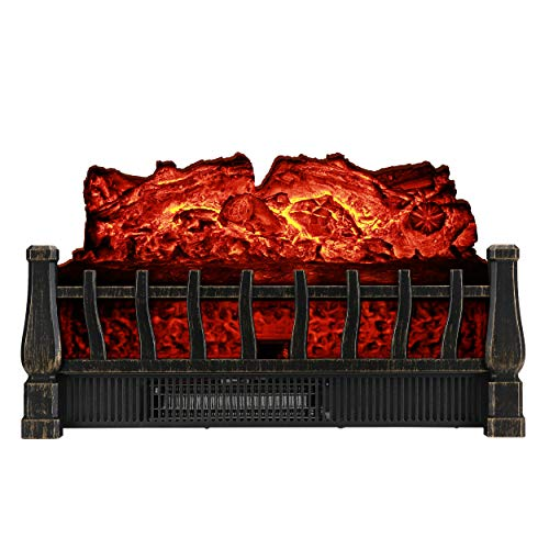 Cheap Caesar Fireplace FP201R Stove Adjustable Electric Log Set Heater with Realistic Ember Bed 1500W Remote Controller Black Black Friday & Cyber Monday 2019