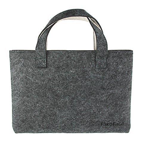Stylish Wool Felt Slim 13-13.3 Inch Laptop Computer Handbag Sleeve Case Protector Shoulder Bag Briefcase Tote for 11''-13'' Apple Macbook Pro/Air Retina iPad Pro,Ultrabook Notebook Netbook