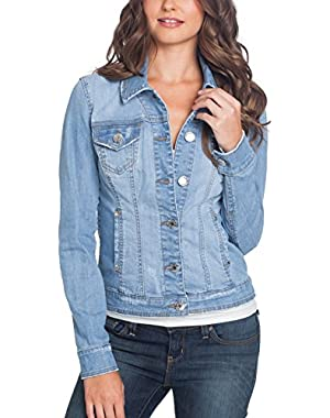 GuessFactory Alisana Denim Jacket in Light Destroy Wash