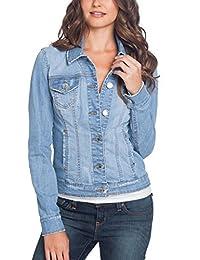 GUESS Factory Women's Alisana Denim Jacket in Light Destroy Wash