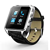 Ourtime X01Plus Wireless Standalone Smart Watch Phone Android 5.1 with Camera Support SIM Card Wifi Heart Rate Monitor - Silver and Black