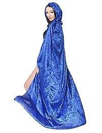 Halloween Costumes Women Hooded Cloak Wizard Cape Masquerade Cosplay Props