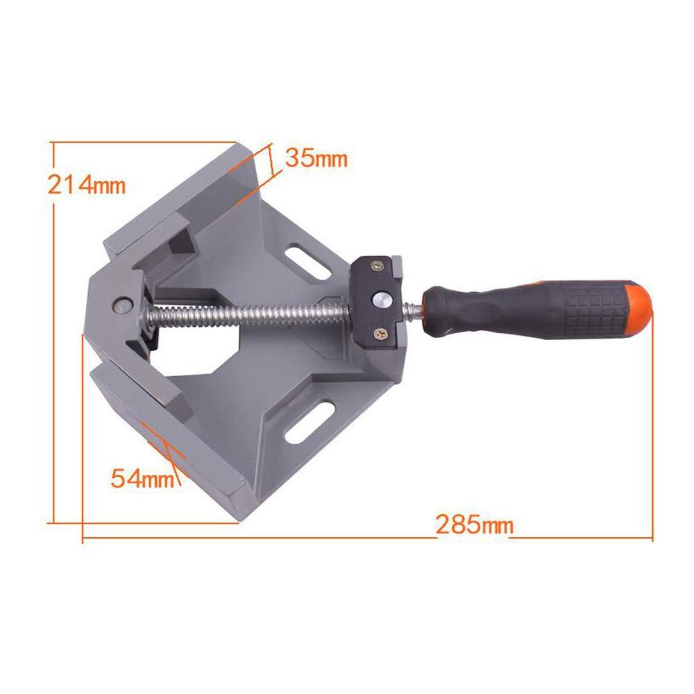 MAYLINE 90 Degree Corner Right Angle Clamps Holder Angle Welding Clamp Vise Adjustable Bench Tool Adjustable Swing Jaw Corner Clamp,Perfect for for Carpenter Welding Wood-working Engineering 1 PC