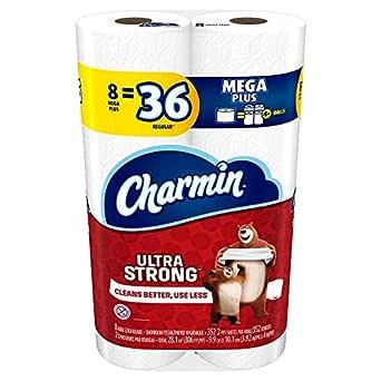 Charmin Toilet Paper, Ultra Strong, 8 Mega Rolls