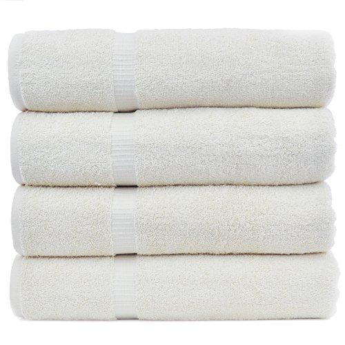 Chakir Turkish Linens Turkish Cotton Luxury Hotel & Spa Bath Towel, Bath Towel - Set of 4, Beige by Chakir Turkish Linens