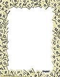 """Eureka Scrabble de la letra Azulejos 8 x 11 """"marco de papel de ordenador, 50-Hojas"""