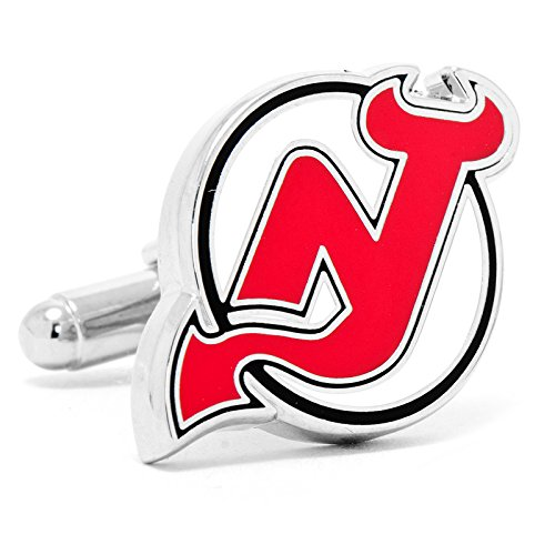 Paint Face Theme (Mens Silver Plated NHL NJ Devils Cufflinks)