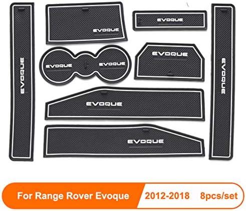 linfei Per Range Rover Evoque 2012-2018 Porta Groove Mat Tappetino Antiscivolo in Gomma per Interni Car Door Bracciolo Pannello di Immagazzinaggio Car Styling